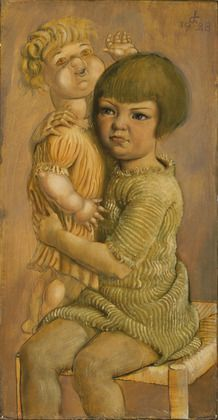Child with Doll  Otto Dix (German, 1891-1969)  1928. Oil and tempera on wood