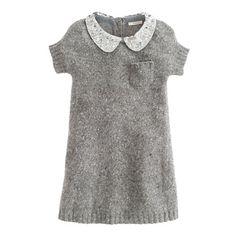 Girls' sequin-collar Donegal dress, J. crew