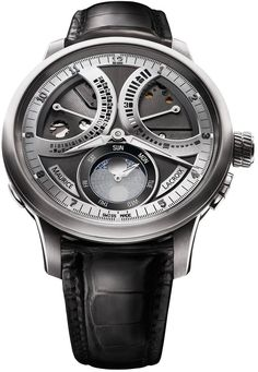 Maurice Lacroix Masterpiece Lune Retrograde Grey Dial Men's Watch ML-MP7278-SS001-320 - Masterpiece - Maurice Lacroix - Shop Watches by Brand - Jomashop