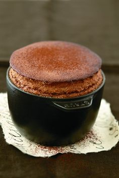 """CHOCOLATE SOUFFLE ~~~ this recipe is shared with us from the book, """"souffles"""". No Bake Desserts, Just Desserts, Dessert Recipes, Pastry Recipes, Baking Recipes, Fancy Dishes, Souffle Recipes, Chocolate Souffle, Food Obsession"""