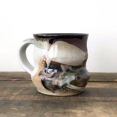 Sketches organic pottery mug coffee mug tea cup by ElmStudios