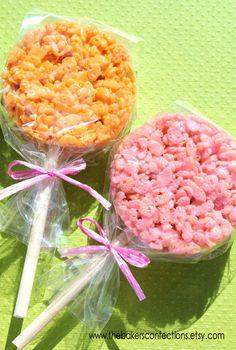 Wooden Dessert Sticks for Rice Crispy Pops
