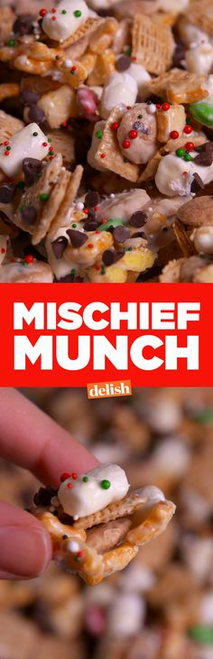 Make this Mischief Munch for your friends and family and watch it disappear. Get the recipe on Delish.com.