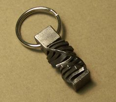 Cut Twist Key Chain