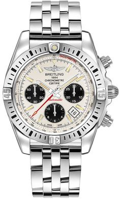 @breitling Watch Chronomat 41 Airborne Bracelet #add-content #bezel-unidirectional #bracelet-strap-steel #brand-breitling #case-depth-15-4mm #case-material-steel #case-width-41mm #chronograph-yes #cosc-yes #date-yes #delivery-timescale-1-2-weeks #dial-colour-silver #gender-mens #luxury #movement-automatic #official-stockist-for-breitling-watches #packaging-breitling-watch-packaging #style-sports #subcat-chronomat #supplier-model-no-ab01442j-g787-378a…