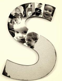 pele-mele-photos-monogramme-photos-enfants-noir-blanc pêle mêle photos