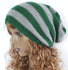 Knitted Slouch Slouchy Knit  Dreads Vegan Hat by slouchiehats, $30.00
