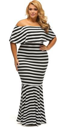 109f362f11 Plus Size Stripe Maxi Dress