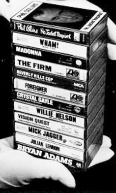 casset tapes in the 70's.