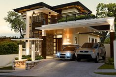 Alvarez Residence on Behance Modern Zen House, Best Modern House Design, Modern House Facades, Minimalist House Design, Modern Architecture House, Modern House Plans, Modern Contemporary House, Modern Bungalow Exterior, Classic House Exterior
