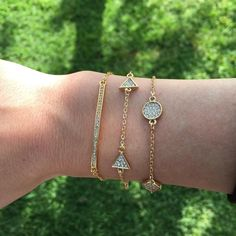 (2pc) OCEAN JEWELERS Statement Bracelets Let the layering begin! Both delicate and detailed these sparkling triangle and circle additions to your style will elevate any look to the next level in one quick step. Wear together or seperately. Hypoallergenic, lead and nickel free. Ocean Jewelers Jewelry