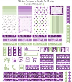 FREE Spring Printable Planner Stickers