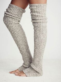 Ballerina-Inspired Fashion To Buy Now |  Free People Bowery Ribbed Over The Knee Legwarmers ($24).