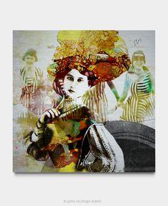 Estampe numérique signé Gohu Année : 2018 Format : 30 x 30 pouces (Baigneuses – Femmes) Signs, Art, Warm Colors, Bathing Beauties, Printmaking, Ink, Sun, Women's, Photography