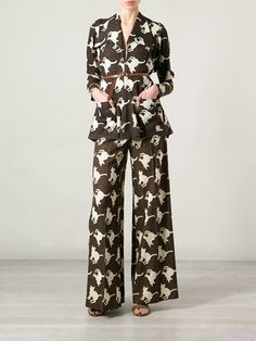 Biba Vintage Cat Print Trouser Suit - Every crazy cat lady should own this.