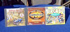 3 Vintage Computer Games - ATV Rally - Survivor - Arcade Master - Windows 95-XP