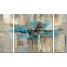 Silvia Vassileva 'Morning Fjord' 3 Piece Multi Panel Art Set ($90) ❤ liked on Polyvore featuring home, home decor, wall art, three piece paintings, trademark fine art, three piece wall art, 3 pc wall art and horizontal wall art