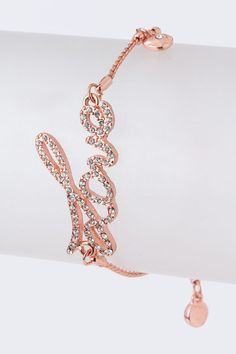 Love Script Bracelet from Ava Adorn
