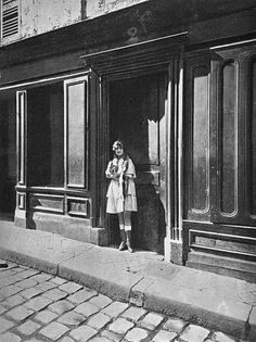prostitute by Eugene Atget (French, 1857-1927); An inspiration for the surrealists, noted for his photographs documenting the architecture and street scenes of Paris.