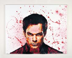 Dexter  Serial 6400 Perler Mixed Media Art by TheCraftyChimera