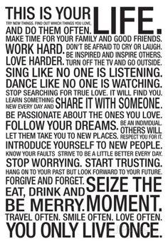 This Is Your Life Motivational Poster Kunstdruck bei AllPosters.de