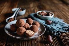 Narancsos, rumos gesztenyegolyó: 15 perc alatt elkészül - Recept | Femina Cacao, Finger Food, Rum, Cereal, Muffin, Gluten Free, Favorite Recipes, Sweets, Cookies