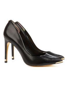 http://www.tedbaker.com THAYA Leather court shoe      £110