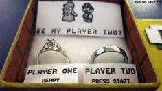 Pedido de casamento nerd
