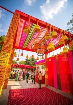For Mehendi function entrance