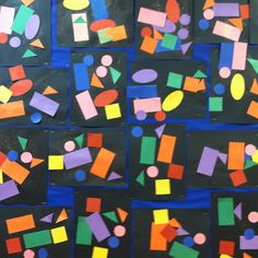 Teach shapes: Toddler Shape collage