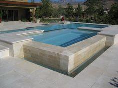 Custom tiered design spa/swimming pool