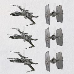 Star Wars™ Galactic Battle Metal Ornaments, Set of 6 - Keepsake Ornaments - Hallmark $19.99