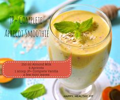#JP+Complete Apricot Smoothie Because by fueling yourself with essential nutrients, coupled with physical activity you will start to experience exciting changes in your body http://yourbodybalance.com/vegan/