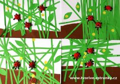 Stránky pro tvořivé - malé i velké - Fotoalbum - Jaro a Velikonoce - Berušky v trávě - P1330967