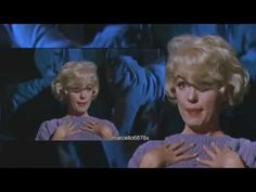 "Mon coeur est à Papa.The Famous Musical Scene with Marilyn Monroe singing ""My heart belongs to Daddy"" in color an. Lets Make Love, Fun To Be One, Some Like It Hot, Marilyn Monroe Diamonds, Famous Musicals, Norma Jean, You Youtube, Valentine Gifts, Actors & Actresses"