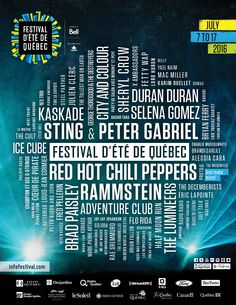 Festival d'été de Quebec drops massive festival lineup that dwarfs all other lineups making it one of the must attend events of the summer!
