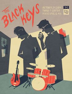 The Black Keys gig poster by annmakes