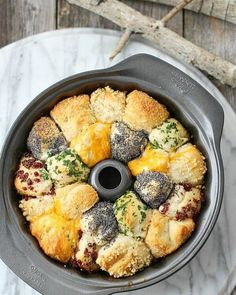 Incredible Savory Monkey Bread is also incredibly easy monkey bread. Buttery and flavorful, using refrigerated canister biscuits and any herb and cheese combination that fits your menu. Bread Recipes, Cooking Recipes, Coconut Recipes, Slow Cooking, Muffin Recipes, Brunch, Good Food, Yummy Food, Fun Food