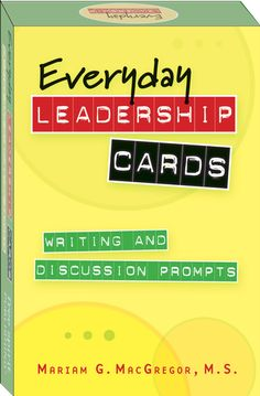 (Free Spirit) Help build leadership skills and instill a leadership attitude in young people with these writing and discussion prompts that encourage teens to think about their beliefs and goals. The easy-to-use cards are perfect for complete youth leadership activities or quick discussions between other activities. Use them in youth groups, as student leadership activities in school, or in one-on-one situations.