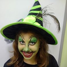 Green witch makeup