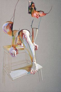 """Saatchi Art is pleased to offer the painting, """"Pedestal,"""" by Cristina Troufa. Original Painting: Acrylic on Canvas. Size is 0 H x 0 W x 0 in. Art Inspo, Kunst Inspo, Art And Illustration, Girl Illustrations, Watercolor Illustration, Pintura Graffiti, Art Amour, Figurative Kunst, Arte Sketchbook"""