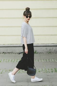 15 Foolproof Ways to Wear a Striped T-Shirt | StyleCaster