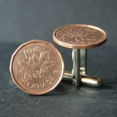 Excited To Share This Item From My Etsy 1995 Canadian Maple Leaf Penny Cufflinks Free Gift Bag 23 Anniversary Year Birthday 23rd