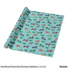 Dachshund Doxie Dog Christmas Holiday Wrapping Paper. Add a fun touch to your gifts with this gift wrap. Perfect for your fur babies and people who like dogs.