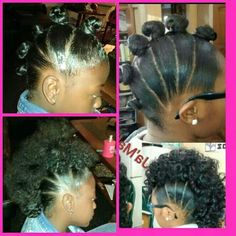 Mohawk w/ bantu knotout Lil Girl Hairstyles, Natural Hairstyles For Kids, Pretty Hairstyles, Braided Hairstyles, Kids Hairstyle, Princess Hairstyles, Hairdos, Curly Hair Styles, Natural Hair Styles