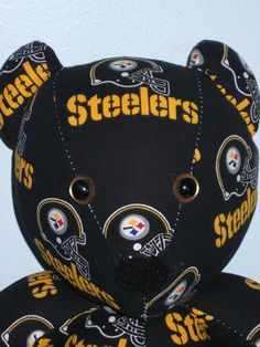 c24ee404375 Teddy Bear Steelers Pittsburgh NFL Football by DoOver on Etsy
