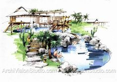 archivisionstudio illustration rendering - Google Search