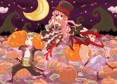 Happy Halloween // Mihawk & Zoro & Perona