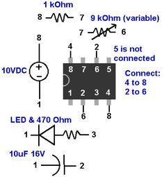 555 Timer Circuit Schematic