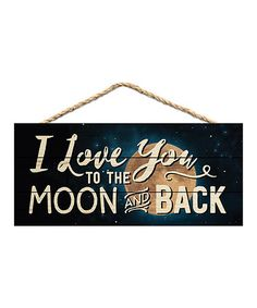 Another great find on #zulily! 'I Love You' Wood Wall Sign #zulilyfinds